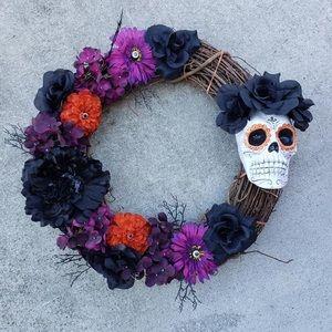 Halloween wreath for Makayla